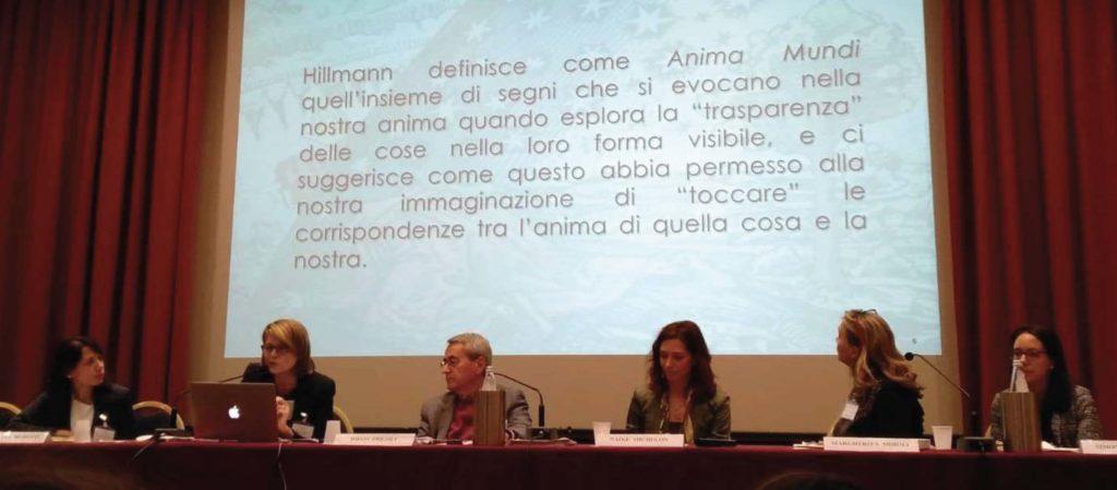 Antonella Remotti, Mara Breno, Diego Frigoli, Naike Michelon, Margherita Moioli, Simona Gazzotti durante il Primo Congresso di Ecobiopsicologia