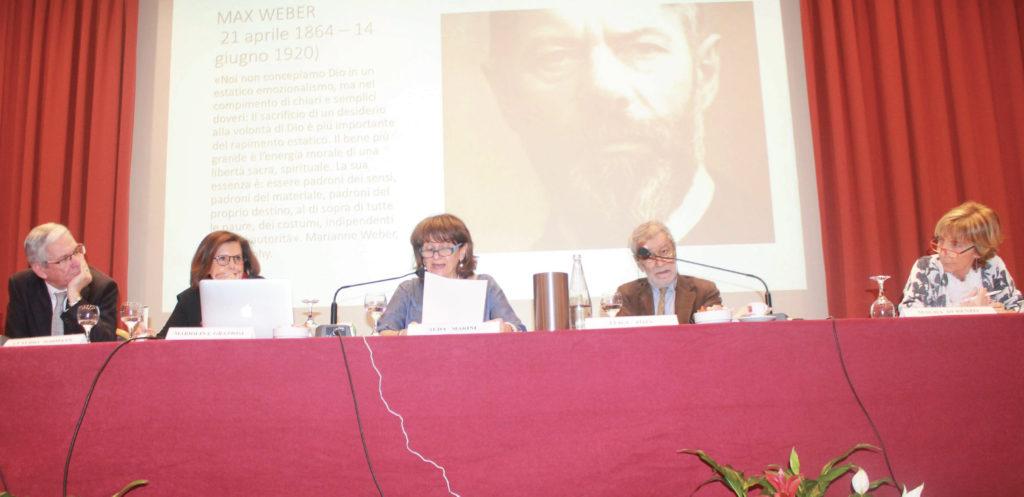 Claudio Widmann, Mariolina Graziosi, Alda Marini, Luigi Zoja, Magda Di Renzo durante la seconda giornata del Primo Congresso Nazionale di Ecobiopsicologia
