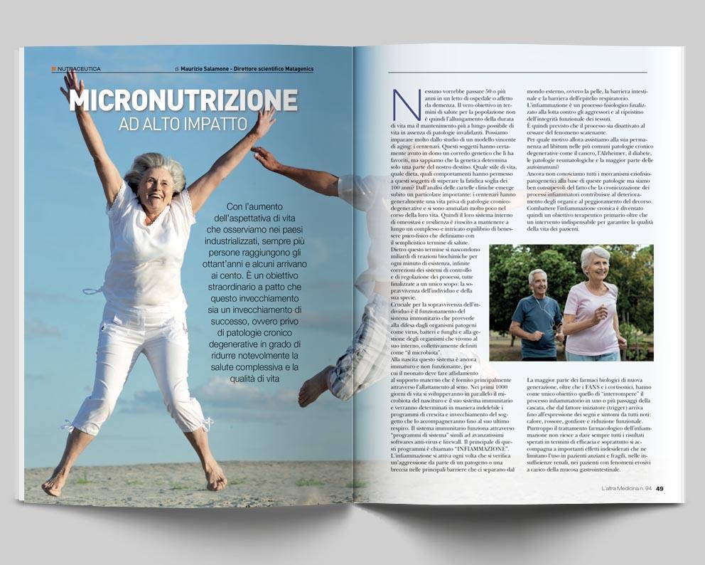 NUTRAUCEUTICA - MICRONUTRIZIONE AD ALTO IMPATTO - di Maurizio Salamone (Direttore scientifico Matagenics)
