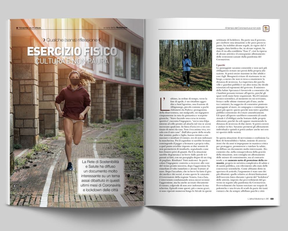TENERSI IN FORMA - Esercizio fisico, culture e no paura - a cura della Redazione