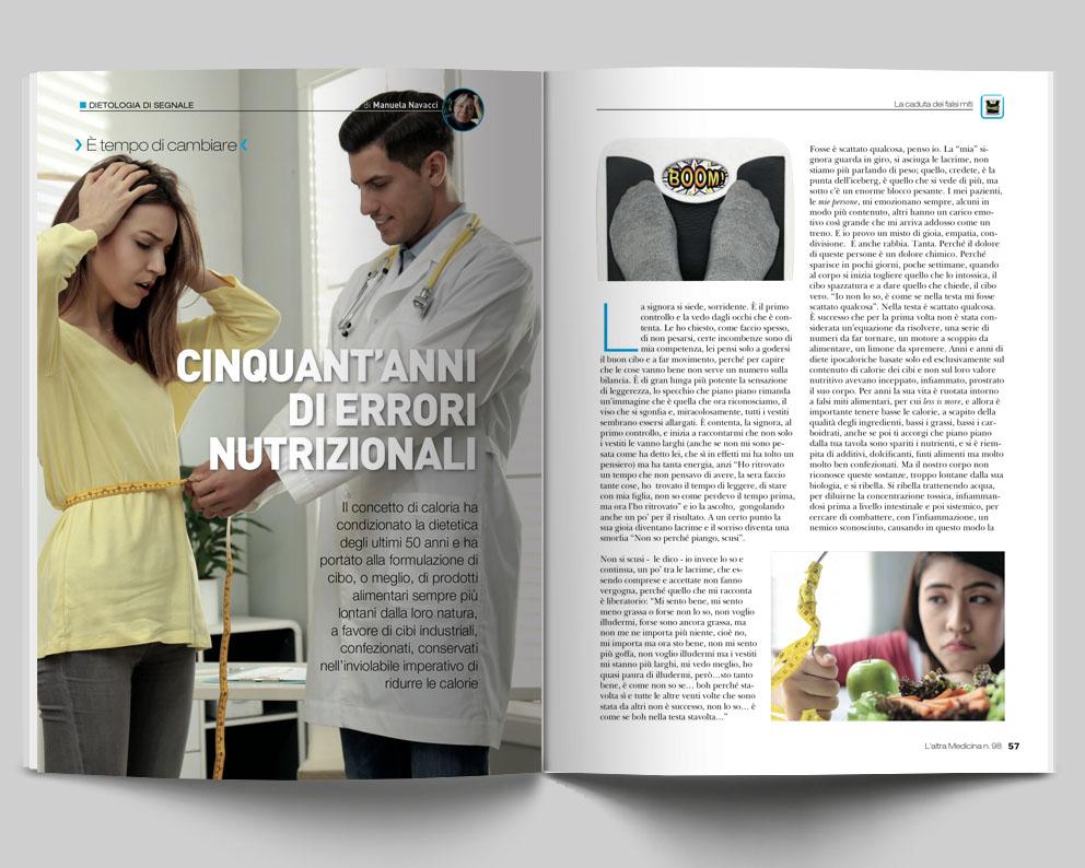 DIETOLOGIA DI SEGNALE - Cinquant'anni di errori nutrizionali - di Manuela Navacci